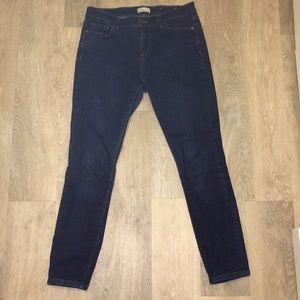 Midrise Dark Wash Skinny Jeans